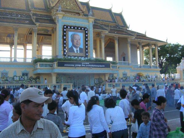 Trauerfeiern Sihanouk
